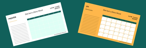 Download your free meal planning calendars for 2018! Choose blank or numbered ones, and start your healthy journey from day one.
